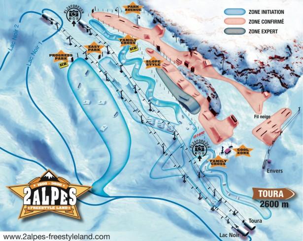 snowpark l2a, snowpark les2alpes, szkolenie freestylowe, wyjazdy snowboardowe, wyjazdy narciarskie